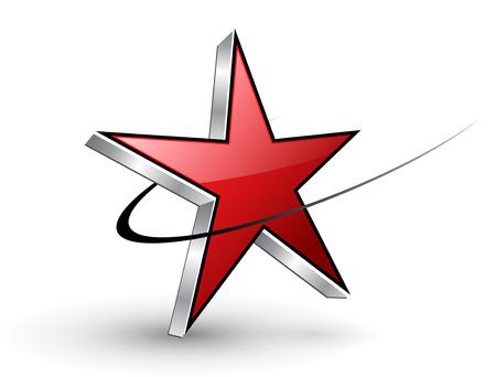Logo red dynamic star Stock Vector - 7580393