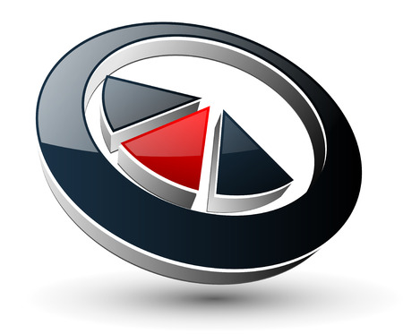 aim: Logo abstract symbol black and red.