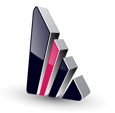 Logo 3d abstract shape, illustration.