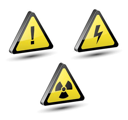 Warning signs set Stock Vector - 7580447