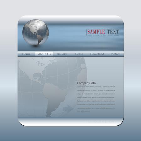 Business website template silver blue Vector