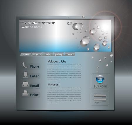 metal net: Plantilla de sitio Web de negocios  Vectores