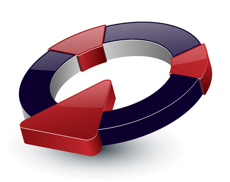 Logo dynamic 3d design Stock Vector - 7627320
