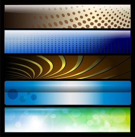 Banners, headers colorful glossy Vector