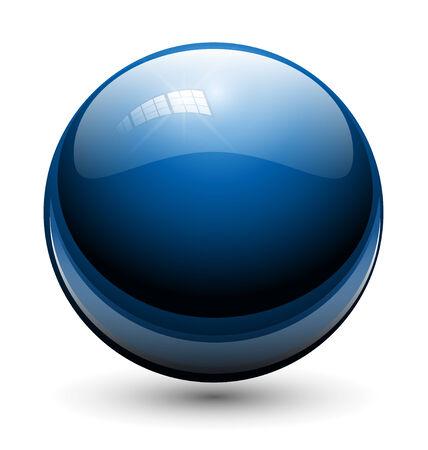 round glasses: Esfera de cristal, bola azul