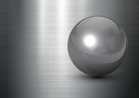 abstract background steel ball on polished metal texture