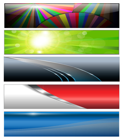 Banners, headers colorful collection Vector