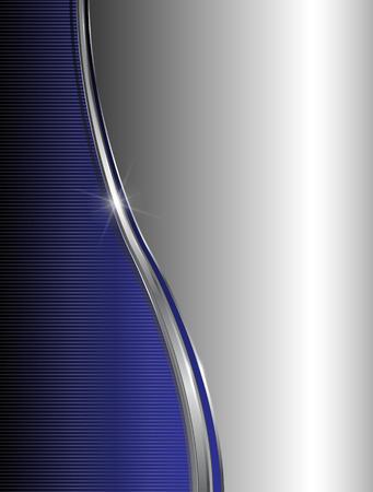 blue metallic background: Abstract background elegant blue silver Illustration