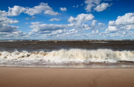 baltic:  Baltic sea beach and blue summer sky