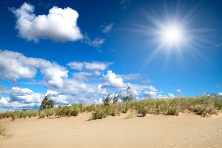 baltic: Sandy dunes near the Baltic sea. Stock Photo