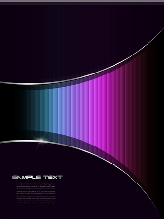 Abstract background colorful lines over black Vector