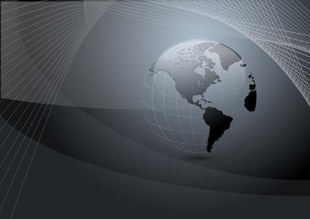 grey backgrounds: gris oscuro de fondo de negocio con el planeta tierra