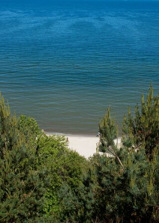 Sea landscape from the hill, Poland photo