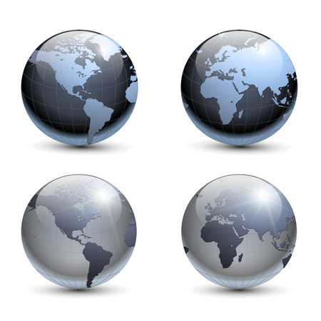 Earth globes collection Stock Vector - 7744073