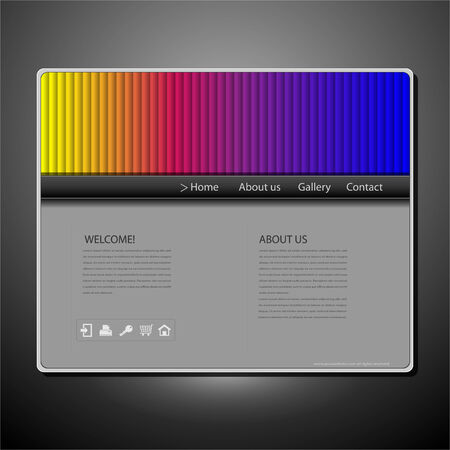 Website design template with rainbow pattern Stock Vector - 7744077