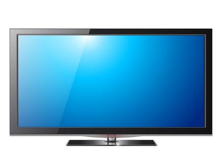 television screen: Flat screen tv lcd, plasma realistic illustration.