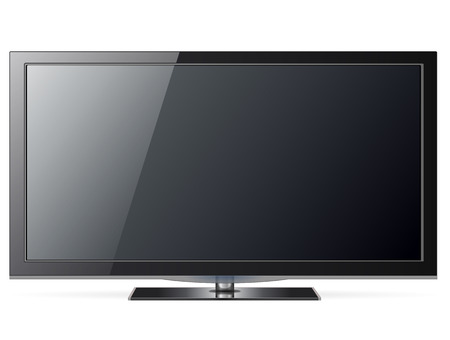 Plasma tv, realistic illustration. Stock Vector - 7815102