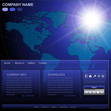 Business website template, editable Stock Vector - 7815110