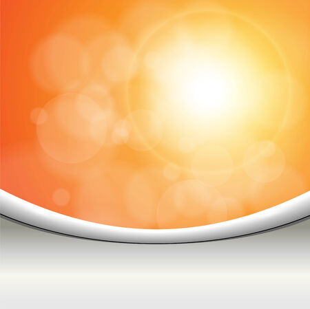 Abstract background orange lights. illustration. Vector