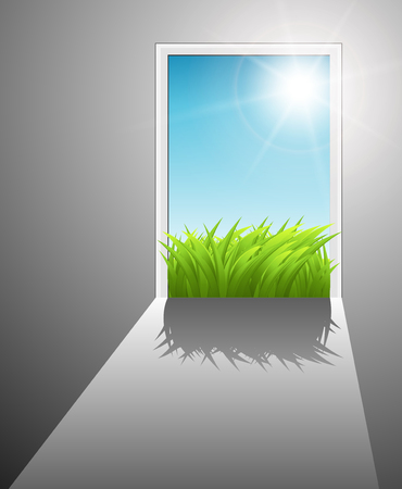 Door to the new better world,  Stock Vector - 7815225