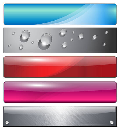 website: Banners, headers colorful abstract set  Illustration