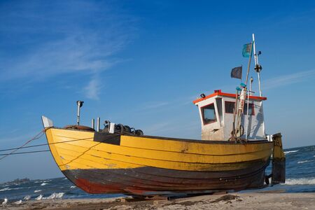 baltic: Fishermen boat in the coast of Baltic
