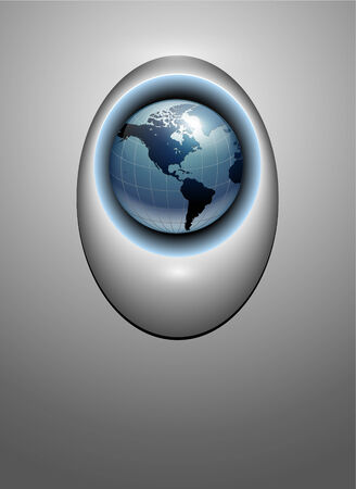 grey: Abstract business background, grey with earth globe