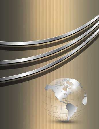 Background gold with earth globe
