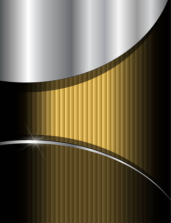 Gold background composition Vector