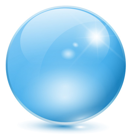 Glass sphere blue Stock Vector - 7981332