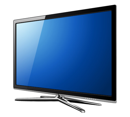 tv monitor: Modern TV lcd, led