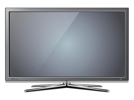 flat screen tv: Moderno TV lcd, conducido
