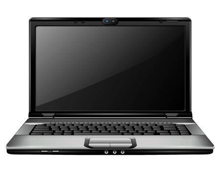 Modern laptop,  Illustration. Stock Vector - 8053823