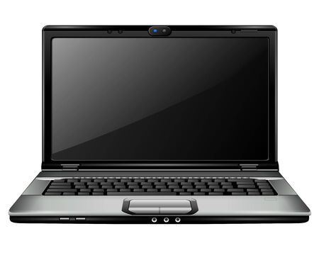 Modern laptop,  Illustration. Vector
