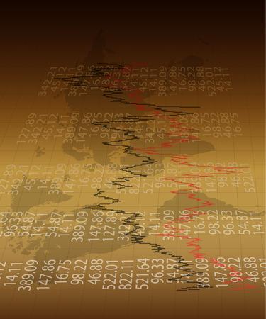 crisis economica: Fondo con negocios, datos financieros y diagramas