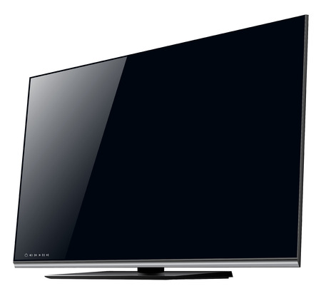 flat screen tv: TV lcd, led - detailed  illustration. Illustration