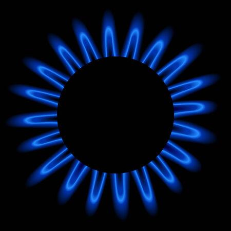 gas flame: Fiamma di gas naturale, illustrazione modificabile.