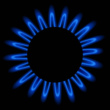 Natural gas flame, editable  illustration. Vector