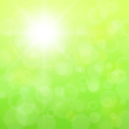 Beautiful abstract background green sunny blurred  Illustration