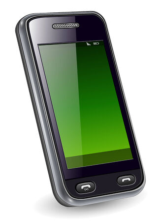 telefon: Telefon komórkowy, telefonów inteligentnych realistyczne ilustracji. Ilustracja