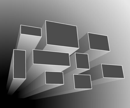 square shape: Abstract background grey