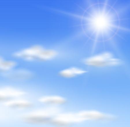 brillante: Nubi e il sole.