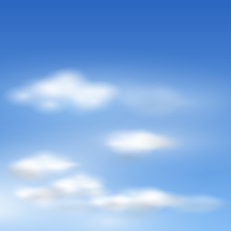 cloud sky:   clouds realistic illustration. Illustration
