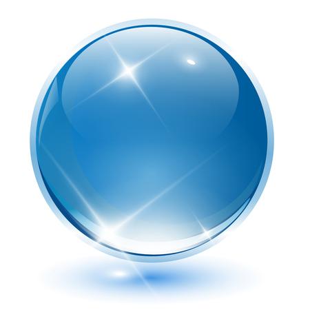 atomo: Esfera de cristal 3D, bola. ilustraci�n.  Vectores