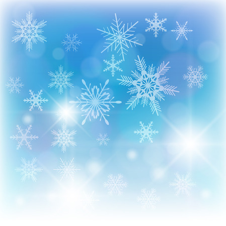 Beautiful winter background with snowflakes  Stock Vector - 8219380