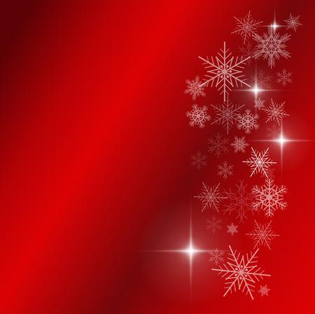 uitnodigen: Rode kerst achtergrond met sneeuwvlokken
