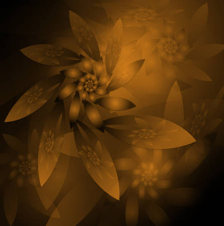 Abstract background   fractal, sepia. Vector