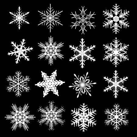 Snowflake winter set,   illustration. Vector