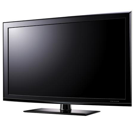 dvi: Modern widescreen tv lcd monitor,   illustration. Illustration