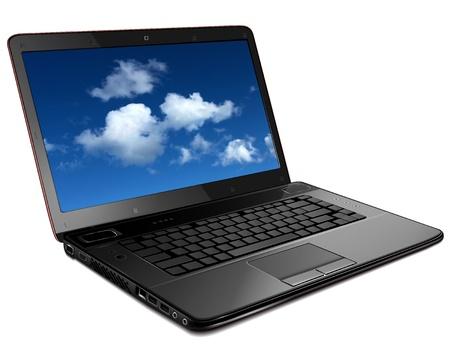 notebook icon: Laptop, modern computer detailed illustration.